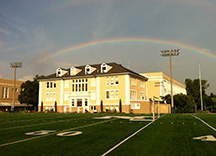 Rainbow over school